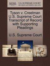 Tyson V. Creelman U.S. Supreme Court Transcript of Record with Supporting Pleadings