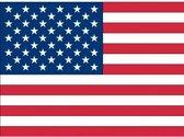Binnen en buiten stickers USA/Amerika -  Amerikaanse stickers - Supporter feestartikelen - Landen decoratie en versieringen