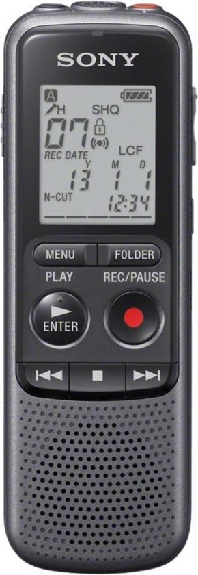 Sony ICD-PX240 digitale voicerecorder- 4GB