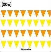 20x Vlaggenlijn geel en oranje 10 meter