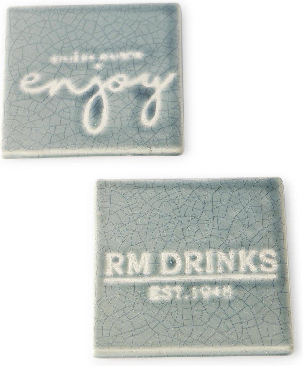 Riviera Maison - Enjoy Coasters - 2 pcs - Blauw - Hout - Riviera Maison