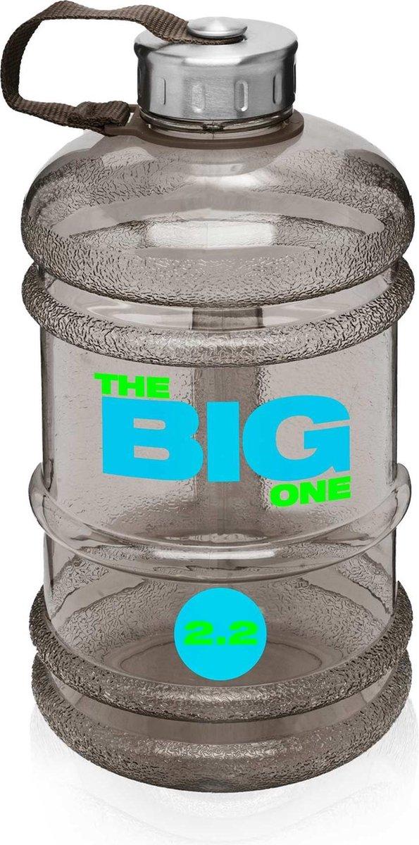 #DoYourFitness - Sportdrankfles - »TheBigOne« - waterfles / watercan van tritan materiaal - 2,2 Liter - zwart - #DoYourFitness