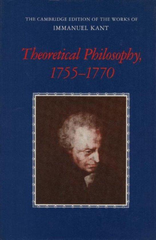 Boek cover Theoretical Philosophy, 1755-1770 van Immanuel Kant (Paperback)