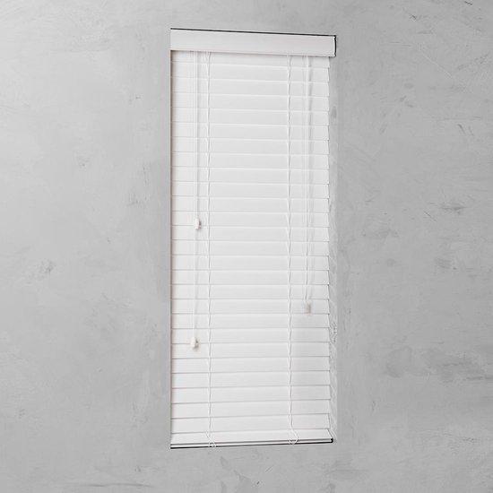 Pure Living - Houtoptiek jaloezie - 50mm - Wit - 120x130 cm - Wit - Pure Living