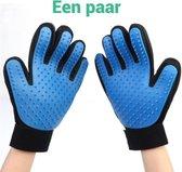 Vachtverzorgingshandschoenen kat en hond - huisdieren handschoen - 2 stuks