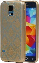 Samsung Galaxy S5 Hoesje TPU Paleis 3D Backcover Goud
