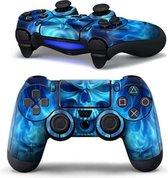 Controller sticker skin - Blue Skull - PS4
