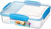 Sistema To Go Snack Attack Duo Lunchbox - 3 Compartimenten - 975 ml - Blauw