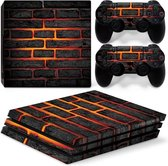 Lava Brick - PS4 Pro Console Skins PlayStation Stickers