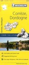 Correze, Dordogne - Michelin Local Map 329