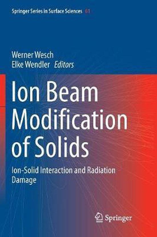 Boek cover Ion Beam Modification of Solids van  (Paperback)