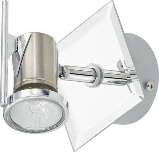 EGLO Tamara - Plafond/Wandspot - 1 Lichts - Nikkel-Mat, Chroom