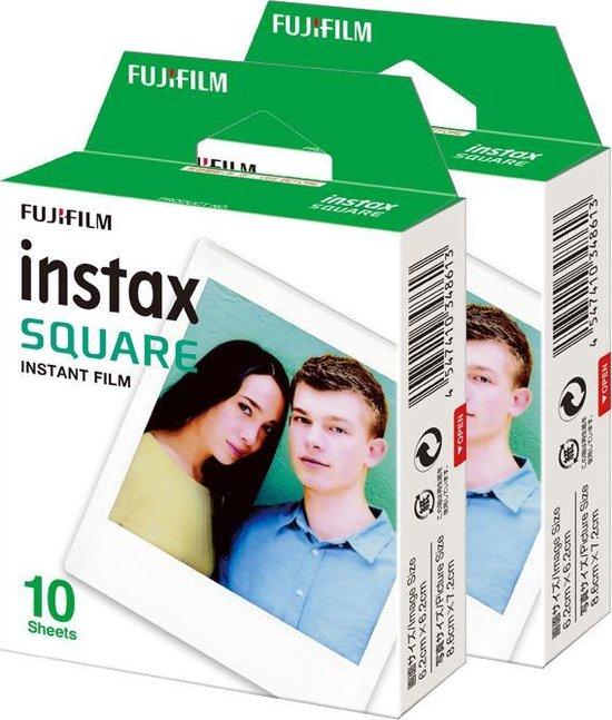 Fujifilm Instax Square Film - Wit kader - 2 x 10 stuks
