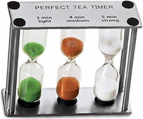 Perfect Tea Zandloper voor de perfecte thee - 3, 4 en 5 minuten