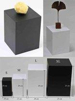 Houten zuil/ sokkel/ presentatieblok/ pilaar M Zwart