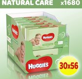 Huggies billendoekjes Natural Care - Voordeelverpakking 30 Pakken