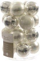 Kerstbal glas zilver mi x 60 mm assortie