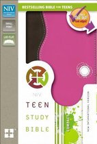 NIV, Teen Study Bible, Compact, Leathersoft, Pink/Brown