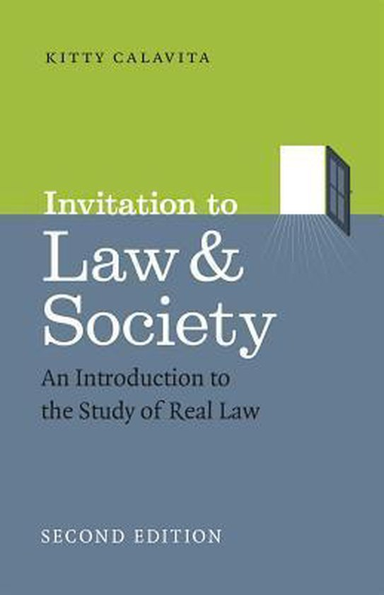 Boek cover Invitation to Law and Society, Second Edition van Kitty Calavita (Paperback)