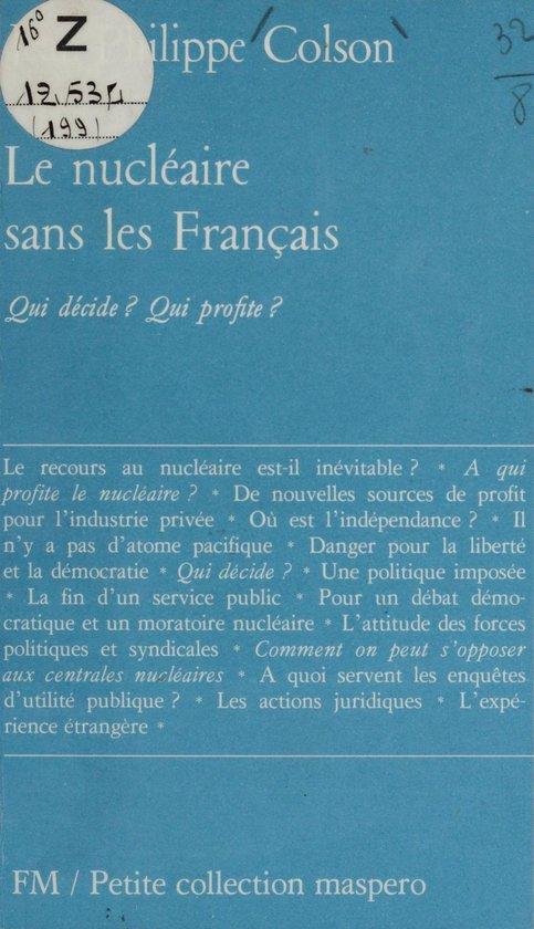 Le nucléaire sans les Français