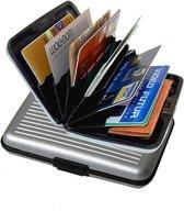 Robuuste Aluminium Creditcardhouder - Zilver Kleurig - Anti RFID Creditcard Case / Hoesje / Wallet / Etui Voor Pasjes Houder / Kaart / Visitekaart / Bankpas & Creditcard