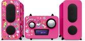 Bigben MCD11RSUNICORNSTICK Radio en CD-Speler Microset met 350 Eenhoorn/Unicorn Stickers - Roze