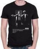 Pulp Fiction - Gun Posing Mannen T-Shirt - Zwart - S
