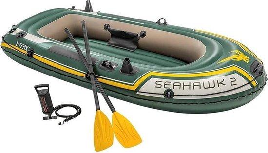 2 Persoons opblaas boot met hengelhouders en peddels 236 cm - Roeiboten/vissersboten - Bootje varen
