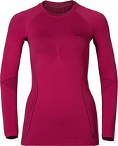 Odlo Evolution Warm - Sportshirt - Dames - Roze - Maat M
