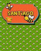 Handwriting Practice 120 Page Honey Bee Book Santiago