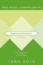 Boek cover Ars Aequi Jurisprudentie  -  Jurisprudentie burgerlijk procesrecht 1983-2016 van