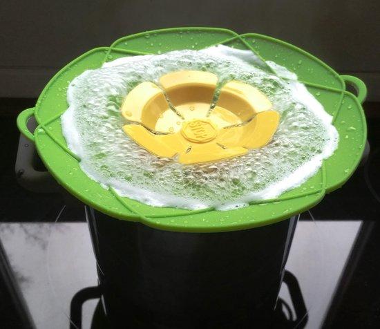 Siliconen anti-overkookdeksel