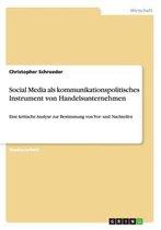 Social Media als kommunikationspolitisches Instrument von Handelsunternehmen