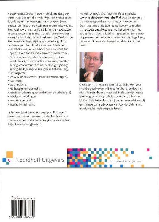 arbeidsrecht 2012 Hoofstukken sociaal recht - Loonstra |