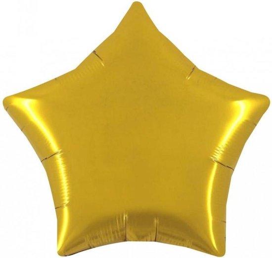 Folie Ballon stervorm kleur goud - 90cm