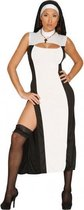 Nonnen kostuum voor dames - zwart/wit - religieuze verkleedkleding