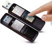 LUXWALLET® Eclipse Series Vingerafdruk 32GB Stick Kluis USB 3.0 + GPS Bluetooth Tracker + Opberg Pouch - AES256 Beveiliging - Encryptie - Foto / Wachtwoorden / Belangrijke bestanden / Bitcoin - Bewaar al je bestanden Veilig!
