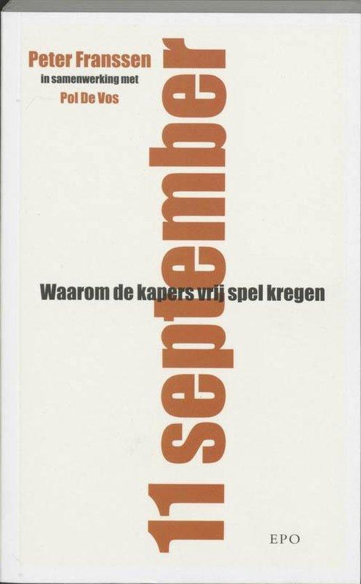 Cover van het boek '11 september' van Peter Franssen