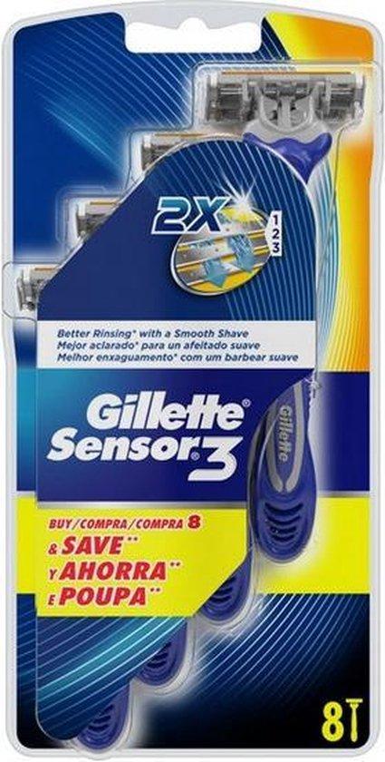 Wegwerpscheermessen Sensor3 Gillette (8 uds)