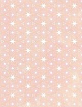 Composition Notebook College Ruled with Abstract Peach Stars Pattern Cover