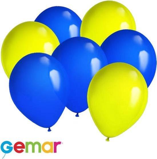 30x Ballonnen Oekrainse kleuren (Ook geschikt voor Helium)