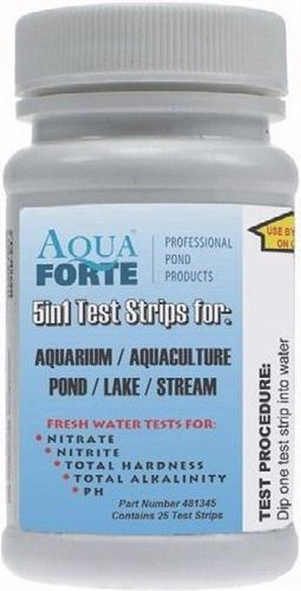 Eco-check 5 in 1 test strip voor vijvers en aquaria 50 stuks