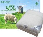 iSleep Wollen Onderdeken - 100% Wol - Eenpersoons - 90x200 cm - Ecru