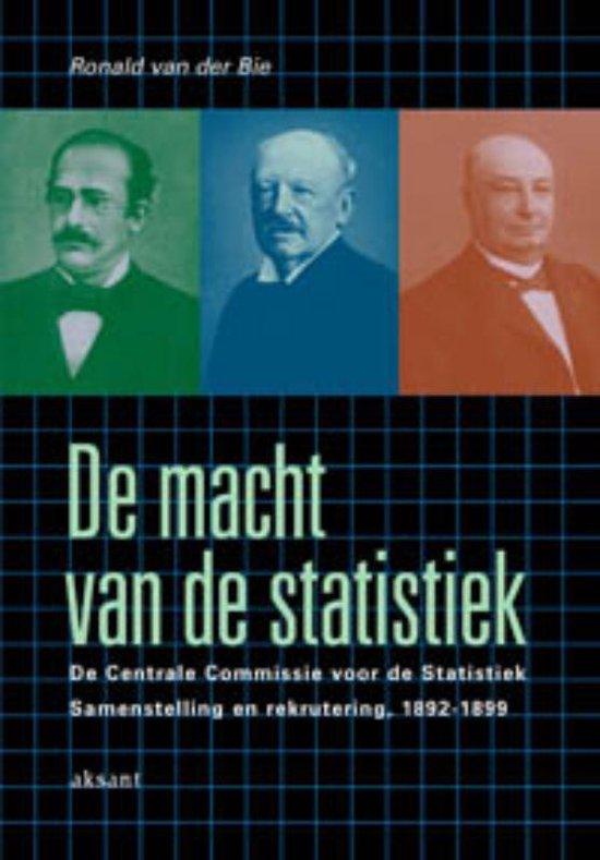 Cover van het boek 'De macht van de statistiek' van Ronald van der Bie
