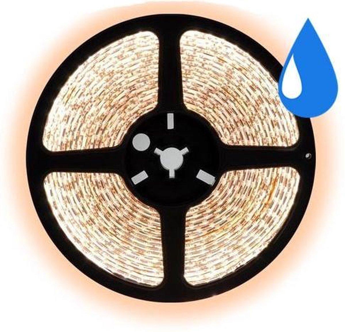 2,5 meter warm wit led strip waterproof - IP65 - 30Leds/m - 12V