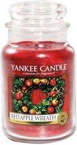 Yankee Candle Large Jar Geurkaars - Red Apple Wreath