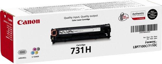 Canon 731HBK - Tonercartridge / Zwart / Hoge Capaciteit