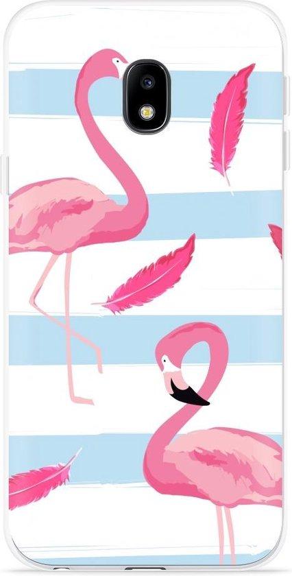 Samsung Galaxy J3 (2017) Hoesje Flamingo Feathers