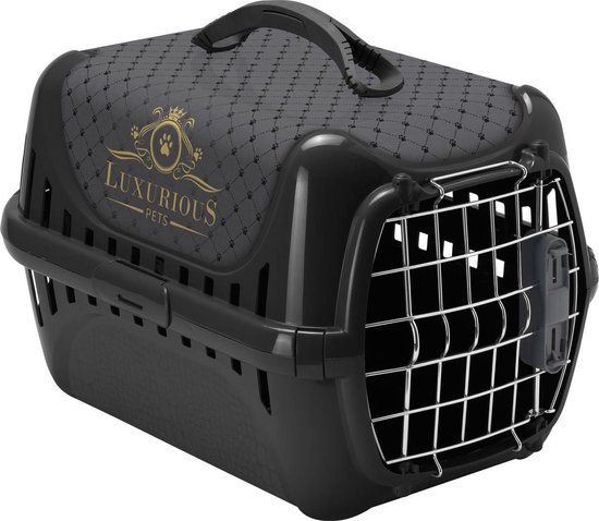 Flamingo Luxurious - Hondenreismand - 50.5 x 32.5 x 31.5 - Zwart