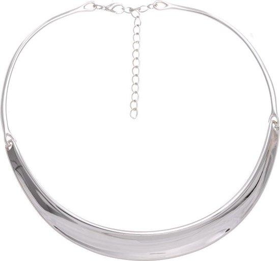 Korte ketting zilver kleur 38 cm + verlengketting 7 cm